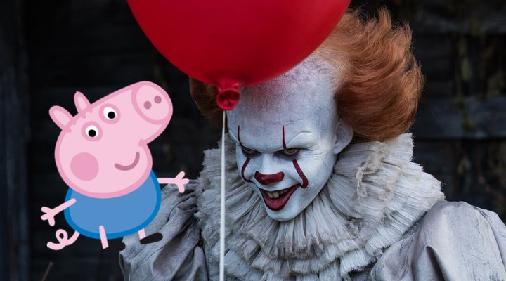 George de 'Peppa Pig' con Pennywise