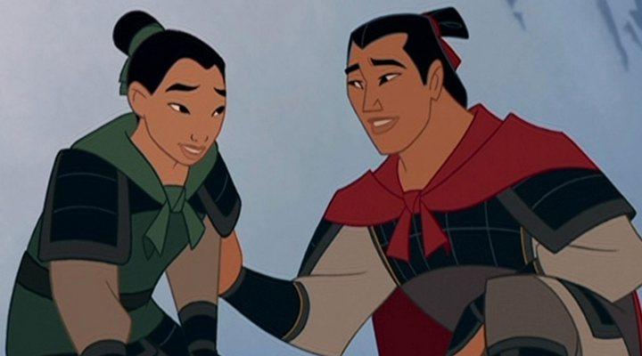 Mulán y Li Shang en 'Mulán'