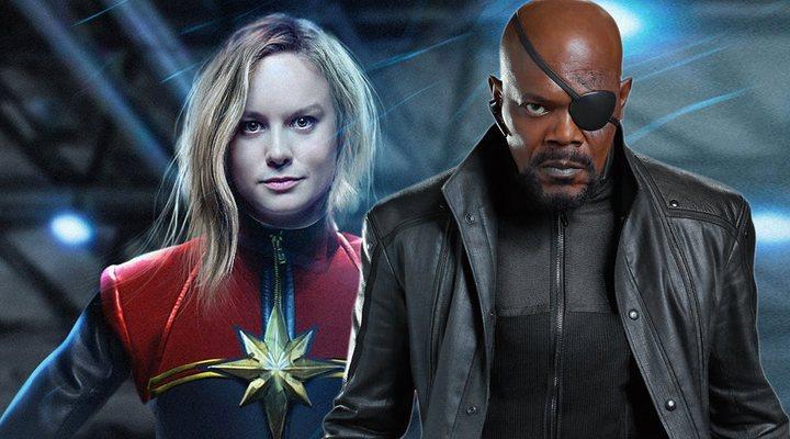 Samuel L. Jackson en 'Captain Marvel'