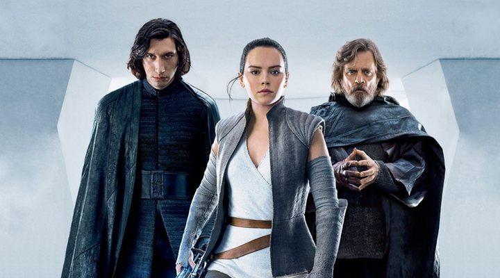 Luke, Rey y Kylo en 'Star Wars: Los últimos Jedi'