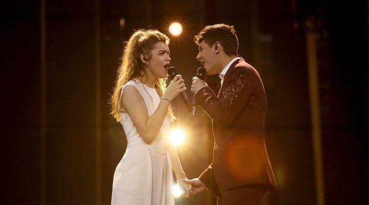 Alfred y Amaia en los ensayos de Eurovisión