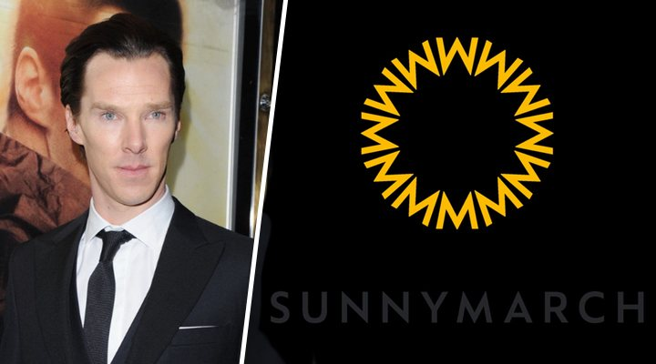Benedict Cumberbatch y el logo de su productora, SunnyMarch