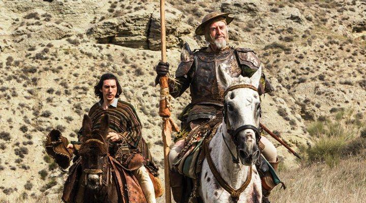 Adam Driver y Jonathan Pryce en 'El hombre que mató a Don Quijote'