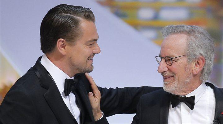 Steven Spielberg y Leonardo DiCaprio