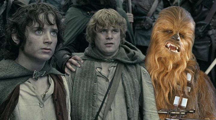 Frodo, Sam y Chewbacca