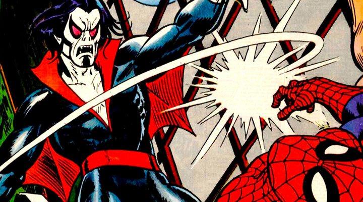 Morbius luchando contra Spider-Man