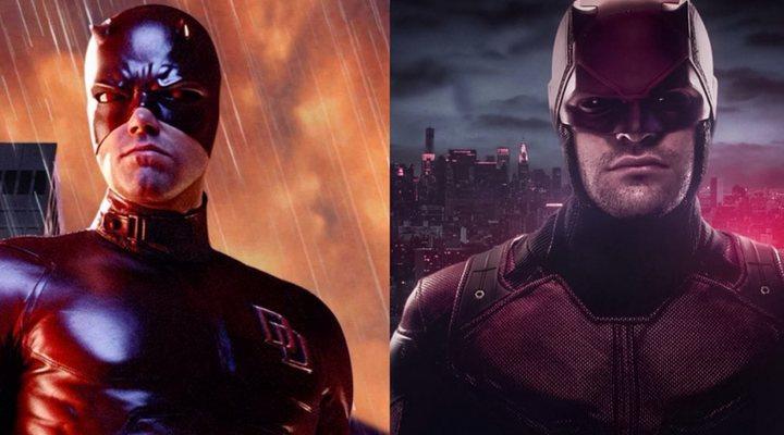 Ben Affleck y Charlie Cox como Daredevil