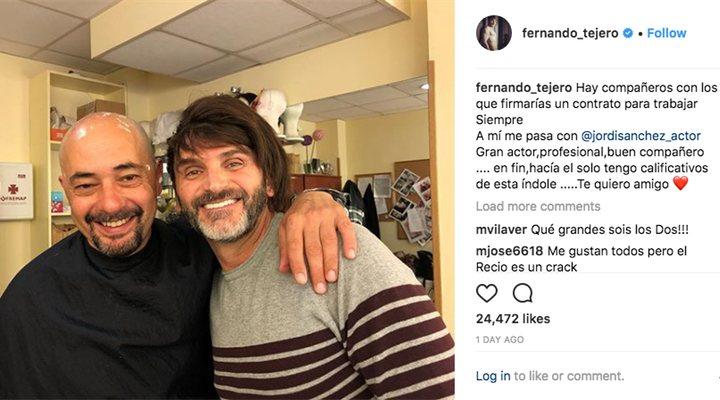 Jordi Sánchez y Fernando Tejero