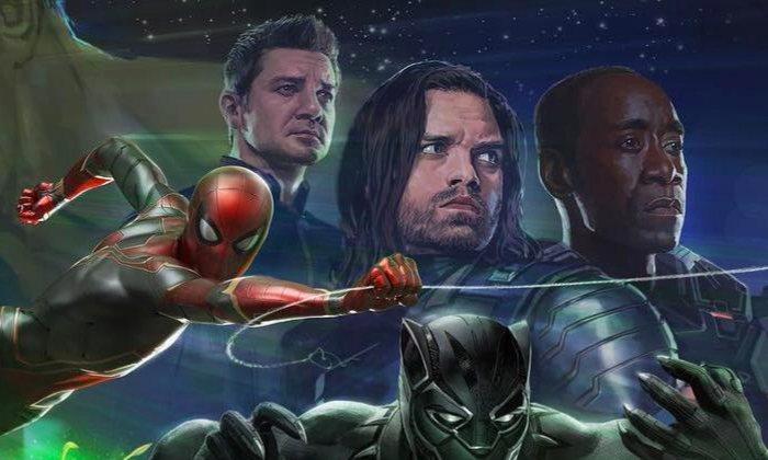 'Jeremy Renner como Ojo de Halcón en el primer poster de Infinity War'