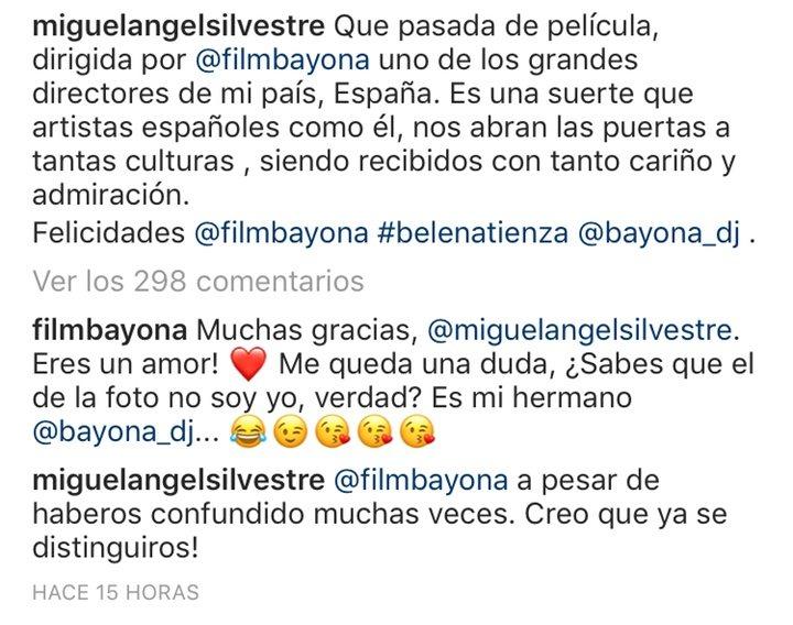 Captura Instagram Miguel Ángel Silvestre