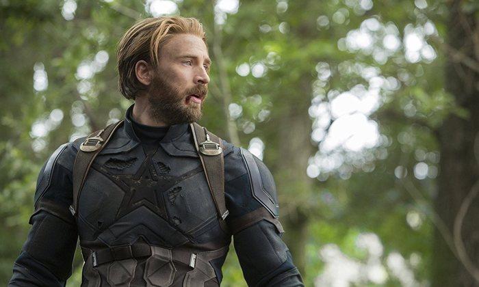 'Chris Evans como Steve Rogers en Vengadores: Infinity War'