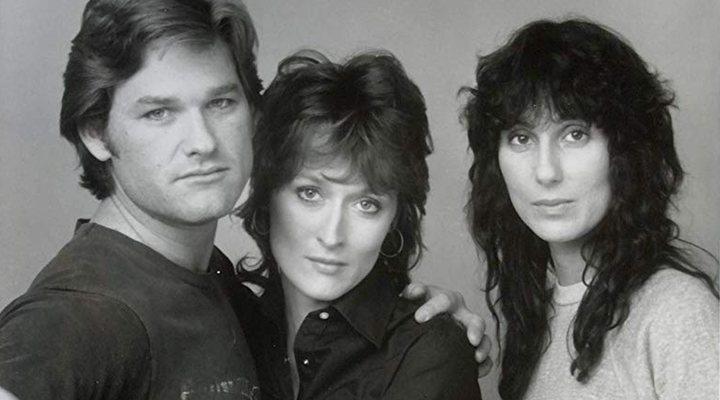 'Cher y Meryl Streep con Kurt Russell en Silkwood, su primera película juntas'