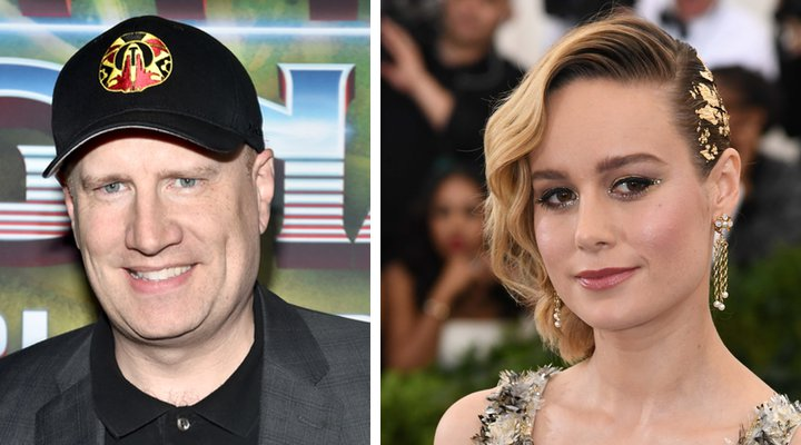 Kevin Feige y Brie Larson