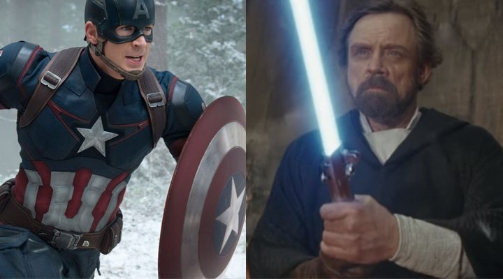 Mark Hamill y Chris Evans
