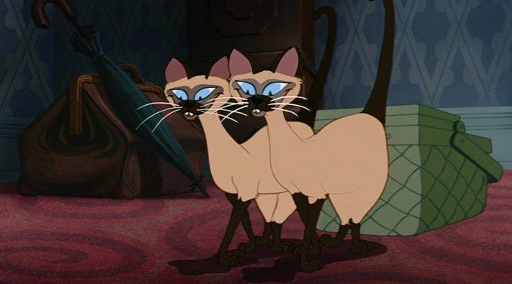 Los gatos siameses, Si y Am, de 'La Dama y el vagabundo'
