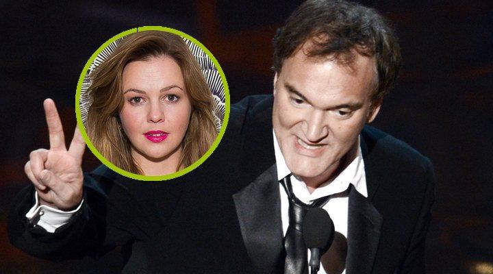 Amber Tamblyn y Quentin Tarantino