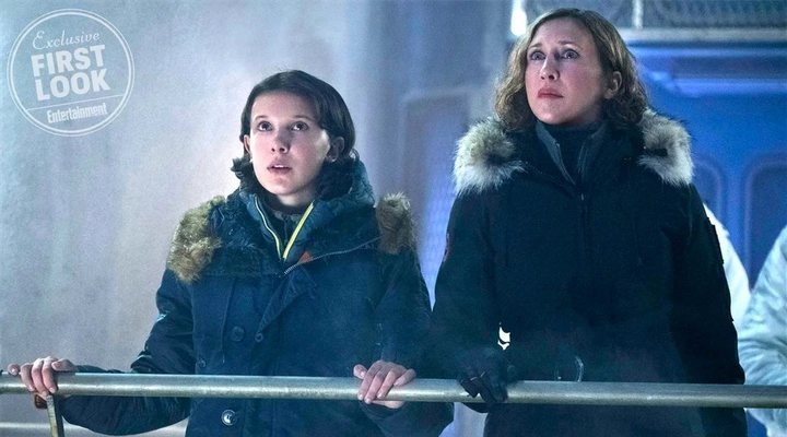 Vera Farmiga y Millie Bobby Brown en 'Godzilla: King of the Monsters'