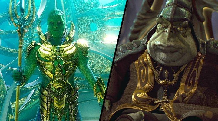 El Rey Pescador de 'Aquaman' y el líder de los gungan de 'La amenaza fantasma'