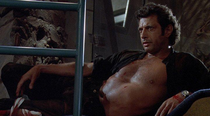 'Jeff Goldblum como Ian Malcolm en Jurassic Park'