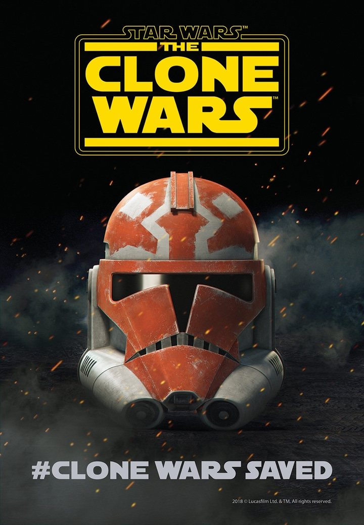 póster regreso 'Star Wars: The Clone Wars'