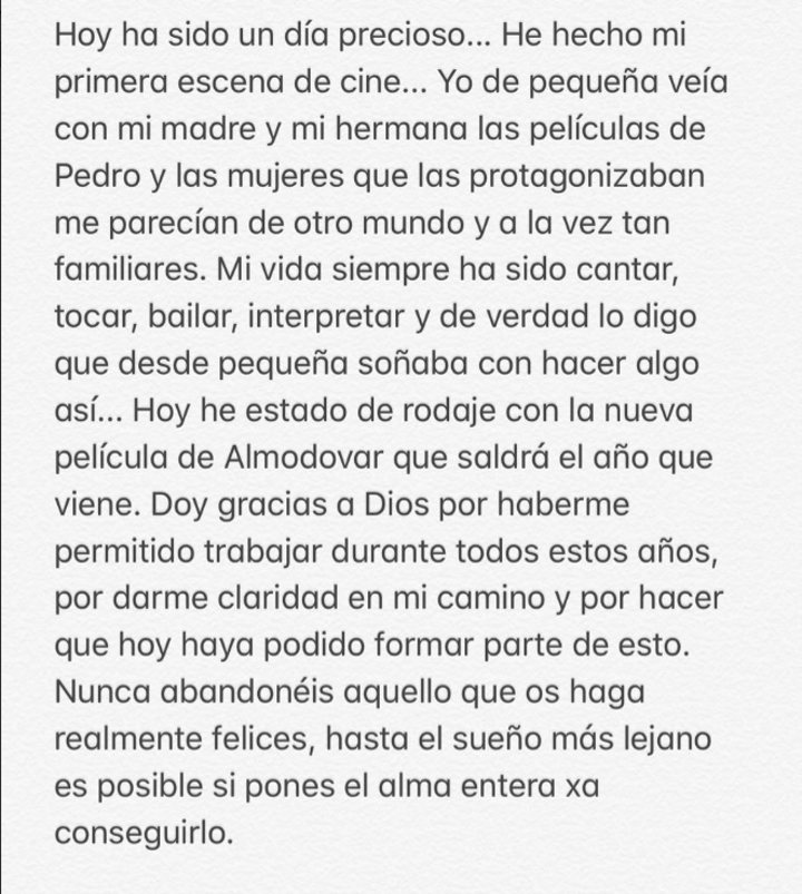 Rosalía en Instagram