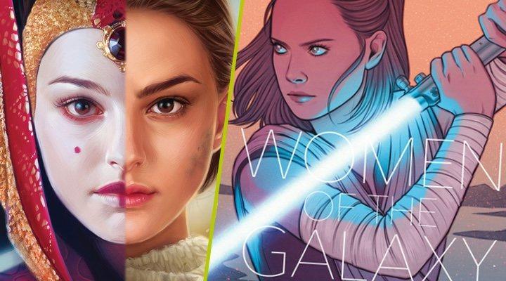 Las portadas de 'Star Wars: Queen's Shadow' y 'Women of the Galaxy'