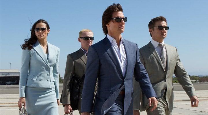 'Paula Patton, Simon Pegg, Tom Cruise y Jeremy Renner en Misión Imposible: Protocolo Fantasma'