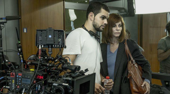David Victori </p><p>y Belén Rueda en el rodaje de 'El pacto'