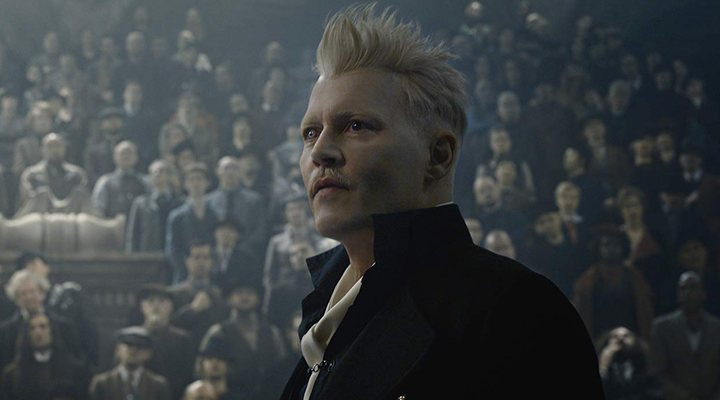 'Johnny Depp en Animales Fantásticos: Los crímenes de Grindelwald'