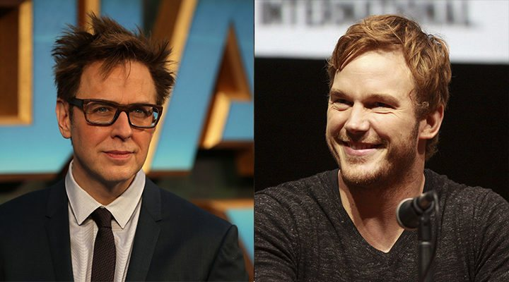 James Gunn y Chris Pratt