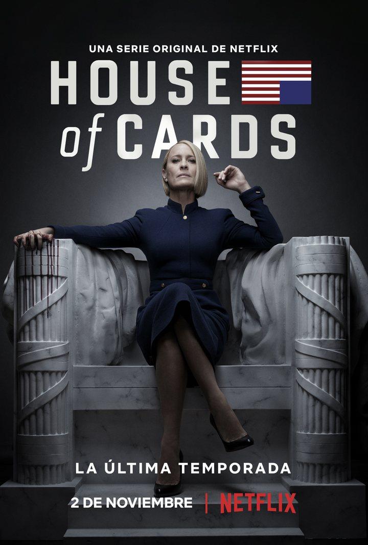'Póster de la última temporada de House of Cards'