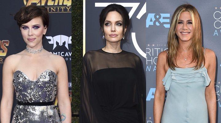 Scarlett Johansson, Angelina Jolie y Jennifer Aniston