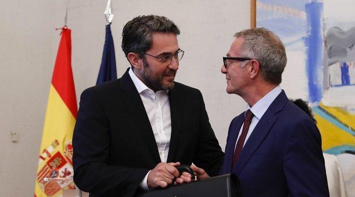 Màxim Huerta entrega la cartera de Cultura y Deporte a José Guirao