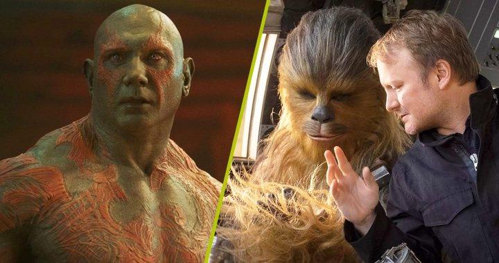 Dave Bautista en 'Guardianes de la galaxia' y Rian Johnson dirigiendo 'Los últimos Jedi'