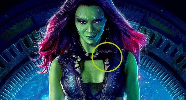 Zoe Saldana caracterizada como Gamora en uno de los posters de 'Guardianes de la Galaxia'