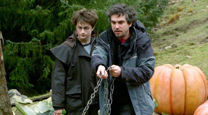 Alfonso Cuarón dirigiendo 'Harry Potter y el prisionero de Azkaban'