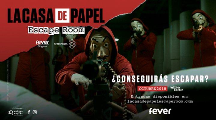 Cartel del escape room de 'La Casa de papel'