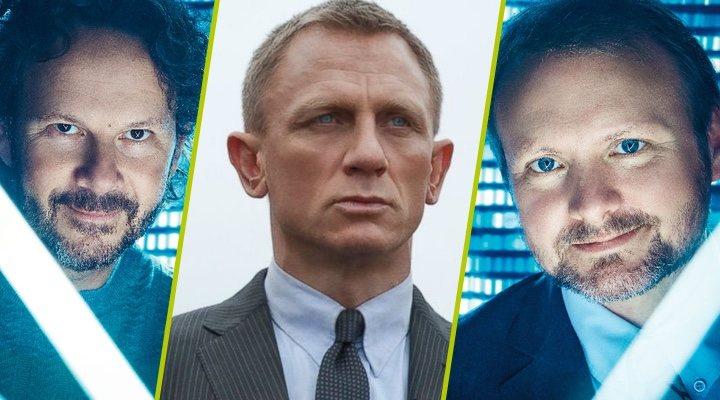 Ram Bergman, Daniel Craig y Rian Johnson