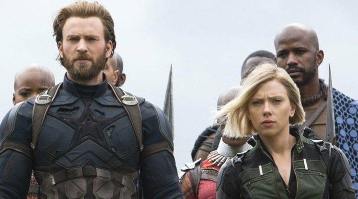 CapitánAmérica y Viuda Negra en 'Inifnity War'