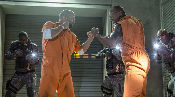 Jason Statham y Dwayn Johnson en 'Fast & Furious'