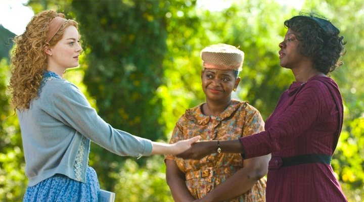 Emma Stone, Viola Davis y Octavia Spenser en 'The Help'