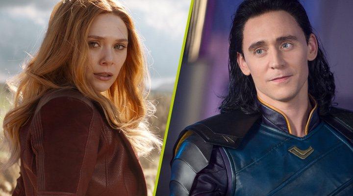 Elizabeth Olsen y Tom Hiddleston en sendas películas de Marvel