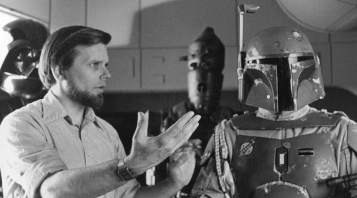 Gary Kurtz en el set de rodaje de 'Star Wars: El Imperio contraataca'