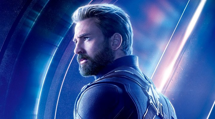 Chris Evans como el Capitán América en 'Vengadores: Infinity War'