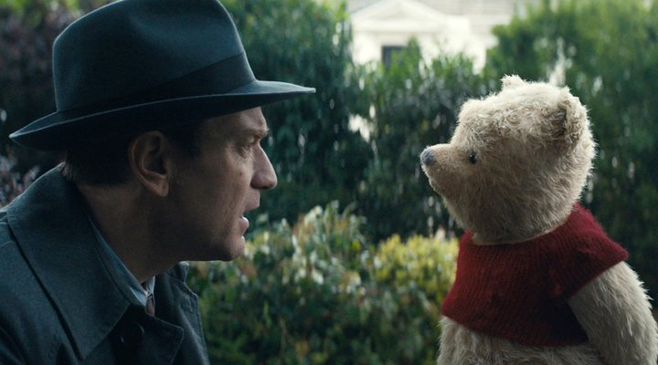 Ewan McGregor con Winnie the Pooh en 'Christopher Robin'