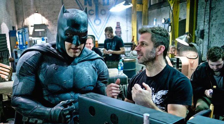 Zack Snyder con Ben Affleck en el rodaje de 'Batman v Superman: El amanecer de la justicia'