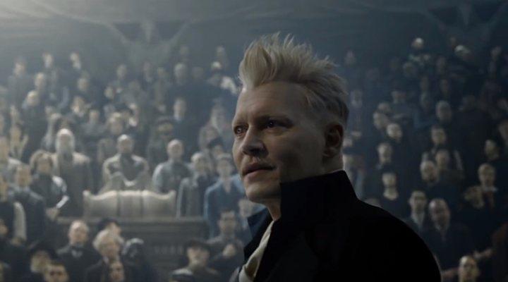 Johnny Depp en 'Animales Fantásticos: Los crímenes de Grindelwald