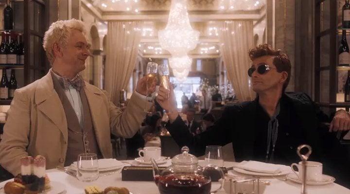 Michael Sheen y David Tenant en 'Good Omens'