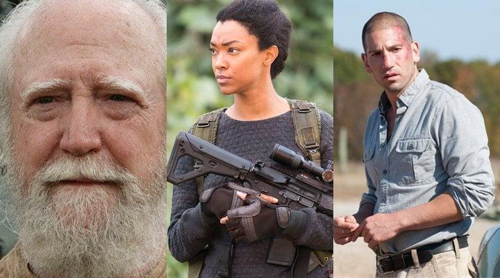 Scott Wilson, Sonequa Martin-Green y Jon Bernthal en 'The Walking Dead'