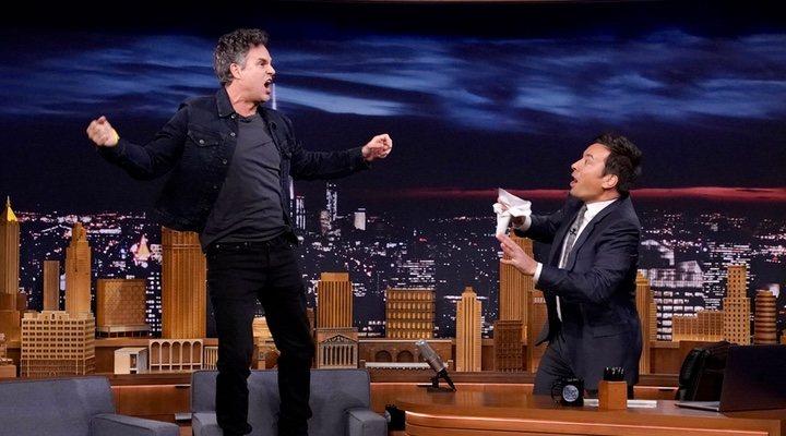Mark Ruffalo en el programa de Jimmy Fallon